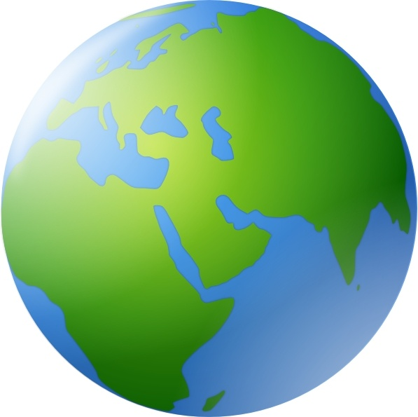 World Globe clip art Free vector in Open office drawing svg ( .svg.