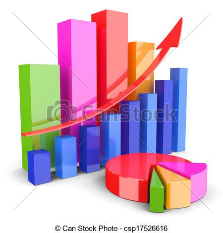 Financial Graph Clipart.