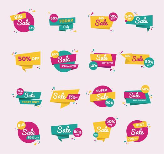 Sale badge vector design set.