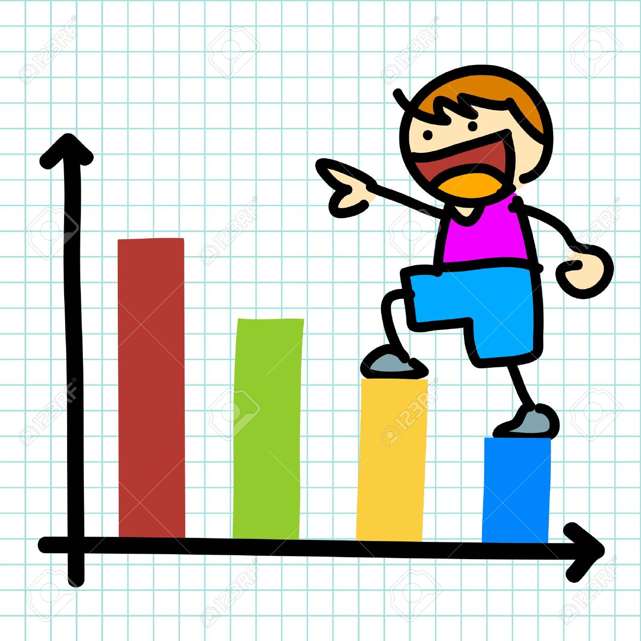 Graph clipart kids.