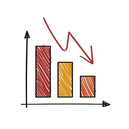Illustration graphique négative et en déclin négatif.