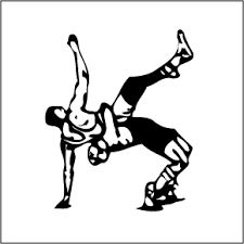 Sports Clipart Image of Wrestling Match.