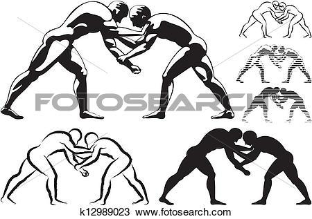 Wrestling Clip Art and Illustration. 2,309 wrestling clipart.