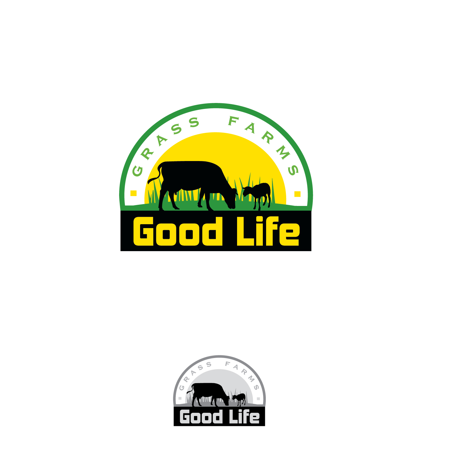 Modern, Personable, Farm Logo Design for Good Life Grass.