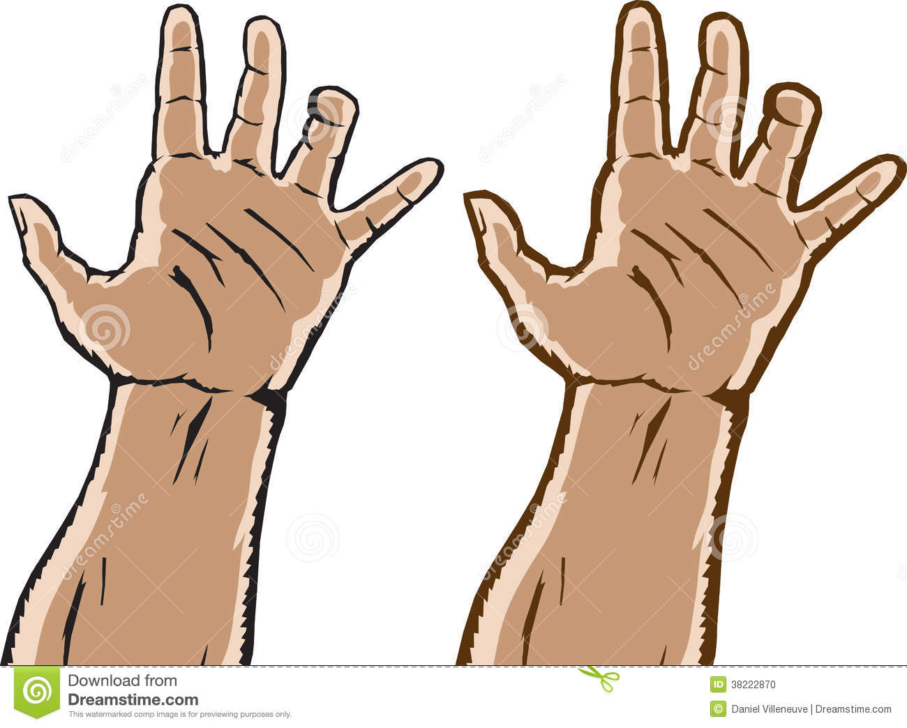 Two Grasping Hands Stock Photo.