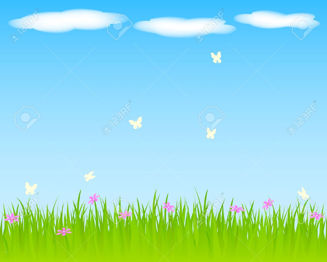 Sky and grass background clipart 2 » Clipart Station.