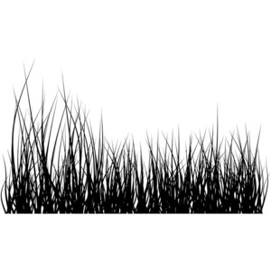 Grass Clipart Black And White Vector.