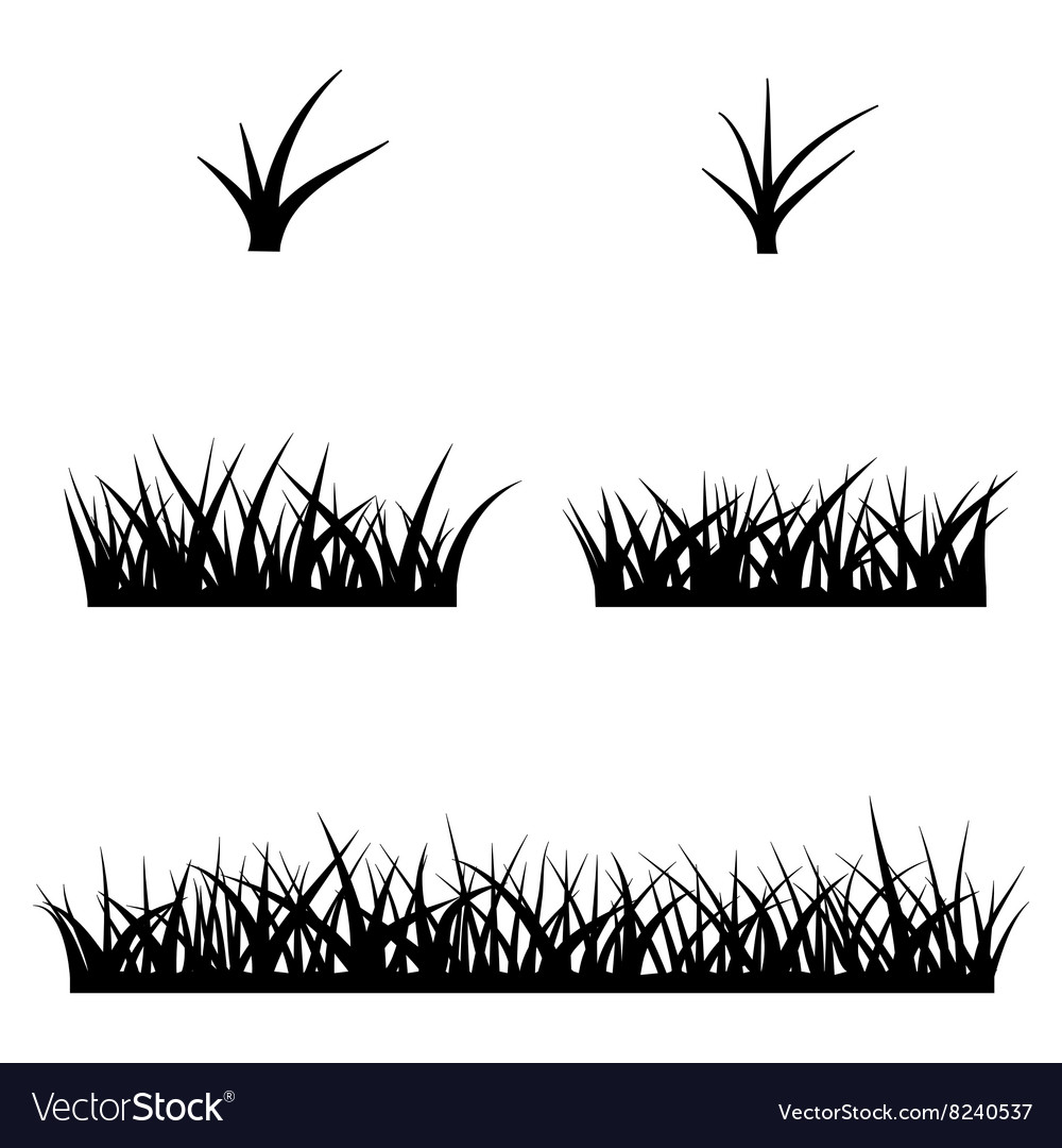 Black silhouette of grass.