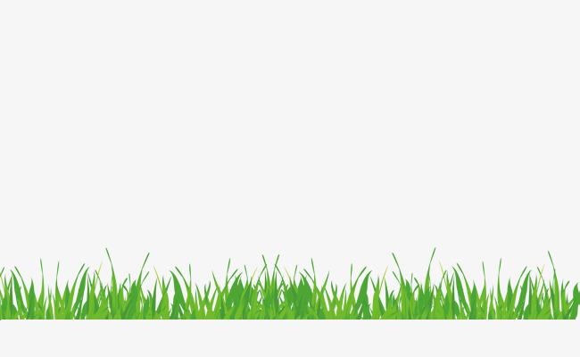 Hand Painted Green Grass Border Texture, #548503.