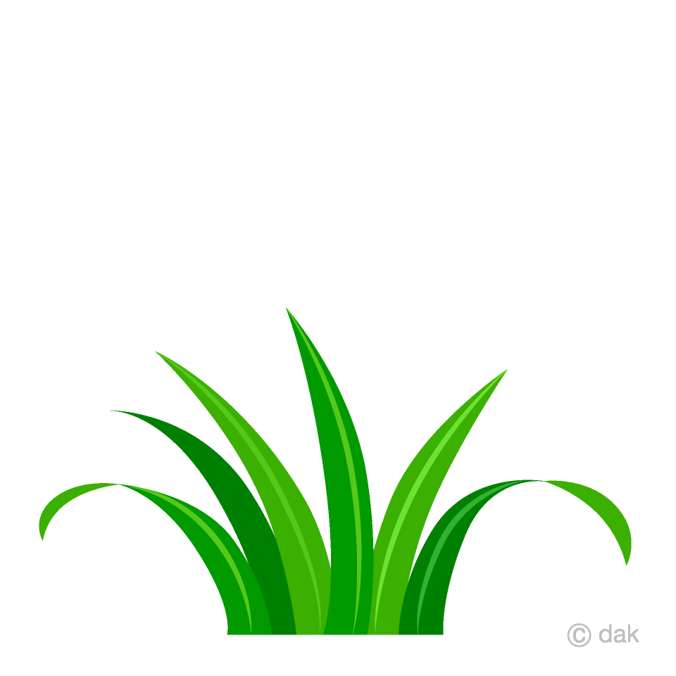 Free Short Grass Clipart Image|Illustoon.