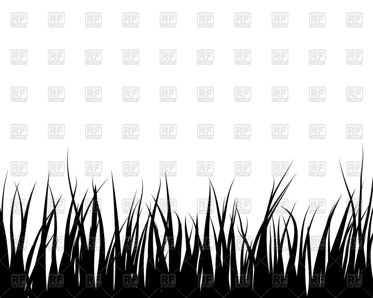 Black grass silhouette Vector Image #83122.