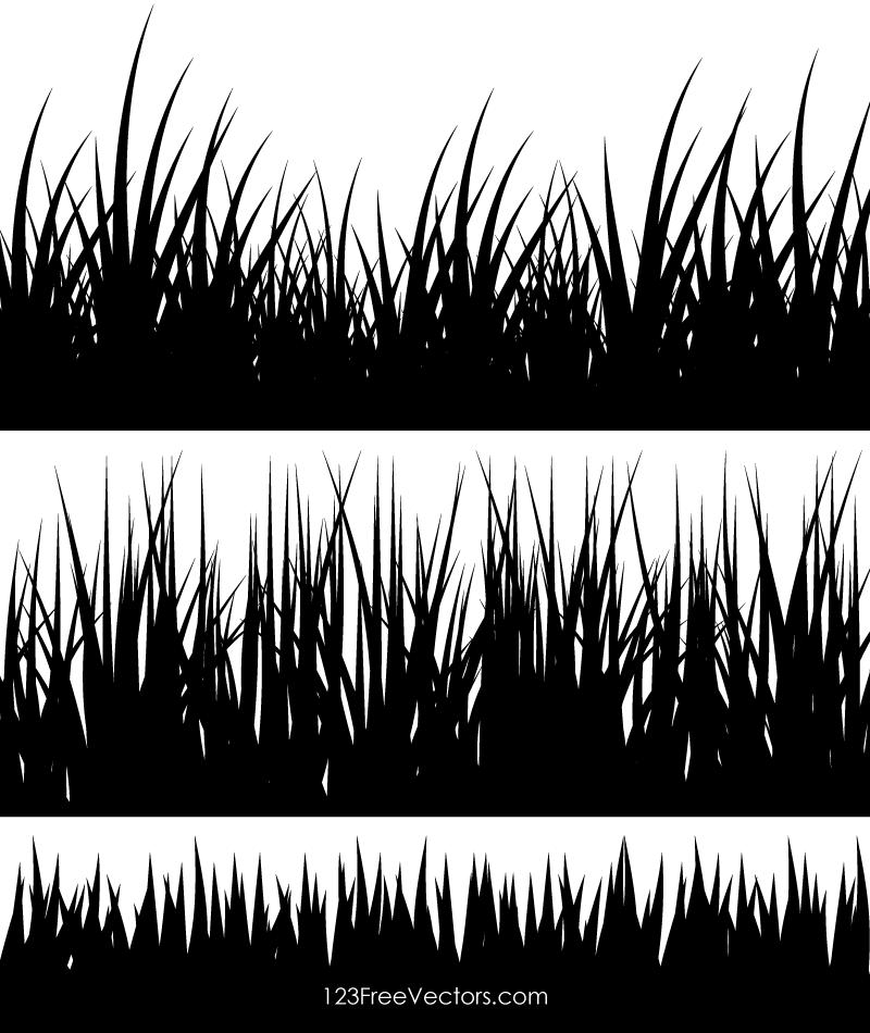 Grass Silhouette Clip Art.