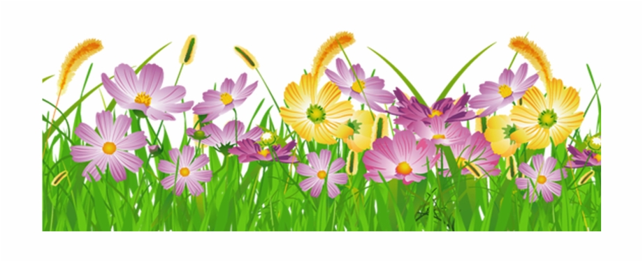 Grass Ground With Pink Flowers Png Clipart Gallery.