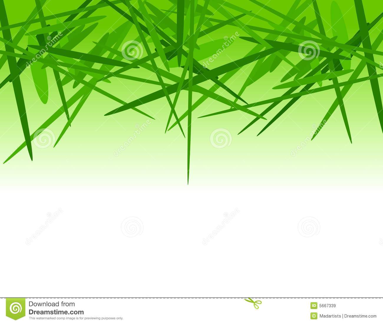Green Grass Clippings Border Royalty Free Stock Images.