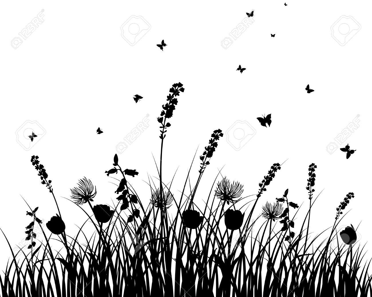 flower field outline.