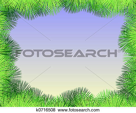 Stock Illustration of Palm fringe k0716508.