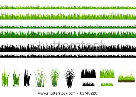 Grass Fringes Vector Illustration Stock Vector 51624070.