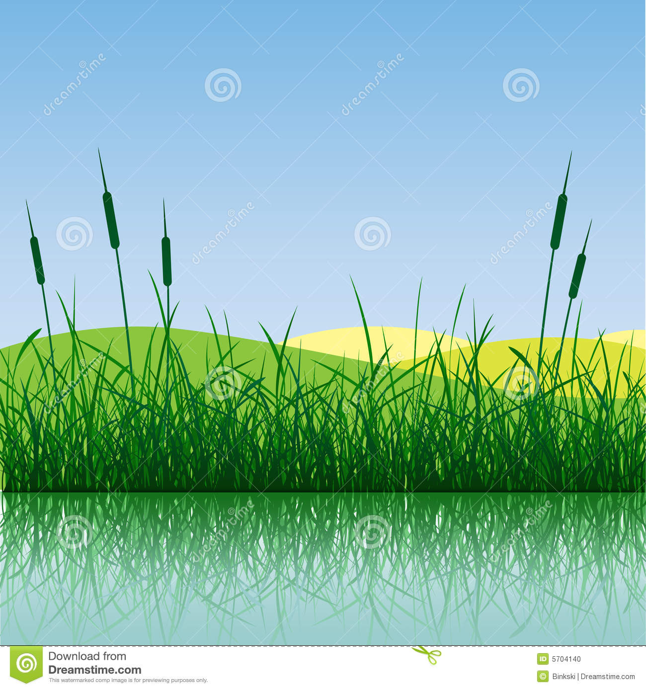 Grass in the water clipart - Clipground