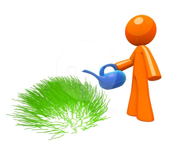 Watering Grass Clip Art.
