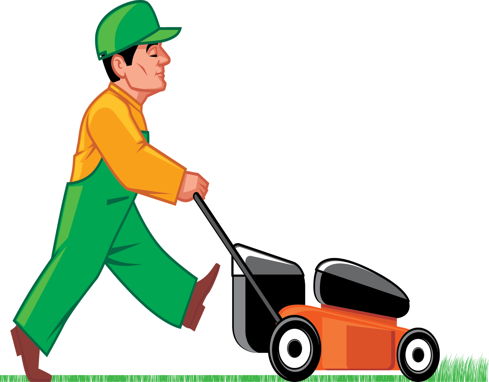 Mowing clipart lawn equipment, Mowing lawn equipment.