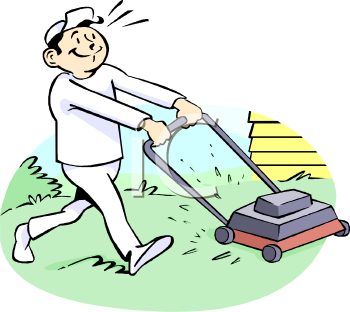 Lawn Mowing Grass Clipart.