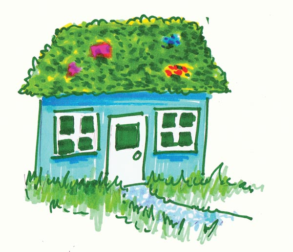 Green roof clipart.