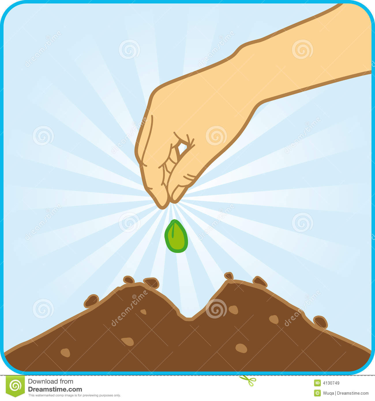 Planting Seeds Stock Illustrations.