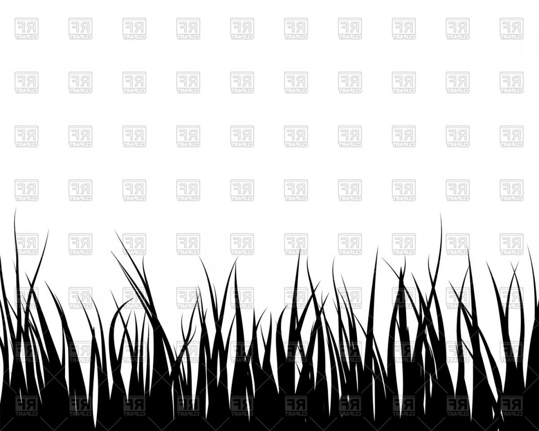 Black Grass Silhouette Vector Clipart.