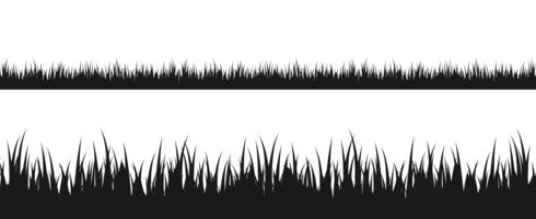 Grass Silhouette Free Vector Art.