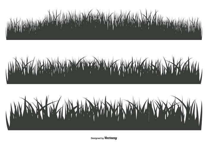 Grass Silhouette Shapes.