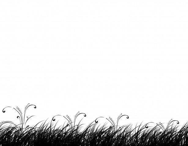 Grass Silhouette Clipart Background Free Stock Photo.
