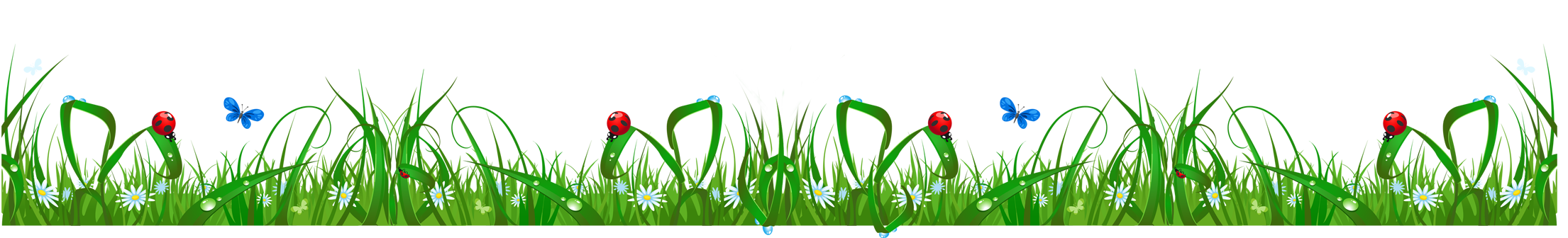 Grass and Flowers Clip Art.