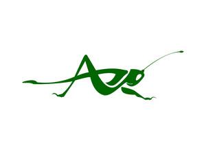 Grasshopper Logo photos, royalty.