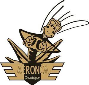 Details about Aeronca Grasshopper Aircraft Logo/Decal 10\'\'w x 9.5\'\'h!.