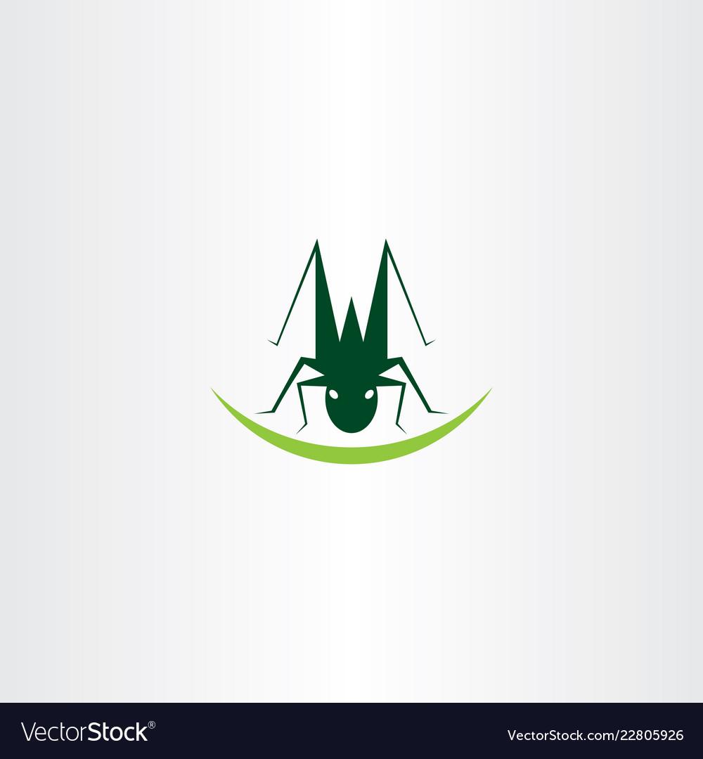 Grasshopper logo icon element symbol.