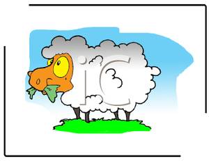 Free clipart images of sheep grazing.