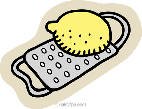 lemon with grate Royalty Free Vector Clip Art illustration.