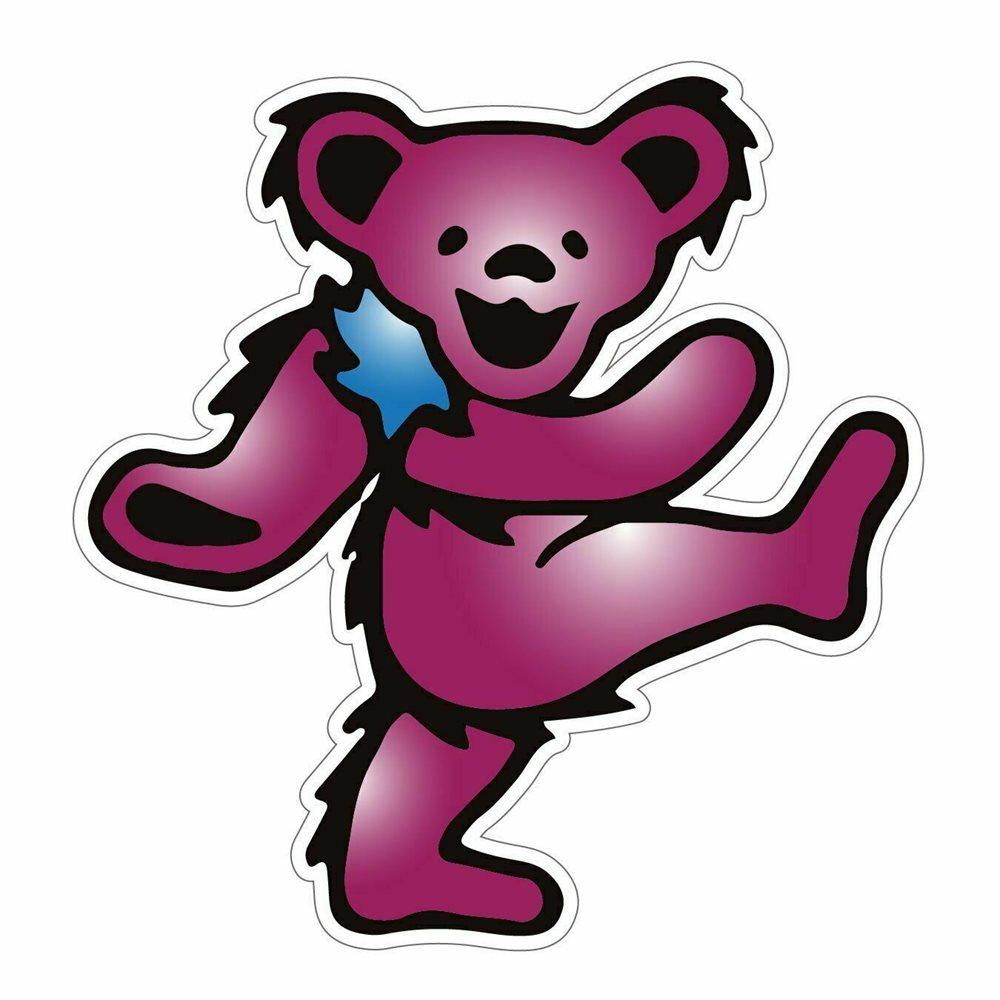 Grateful Dead Dancing Bear Sticker.