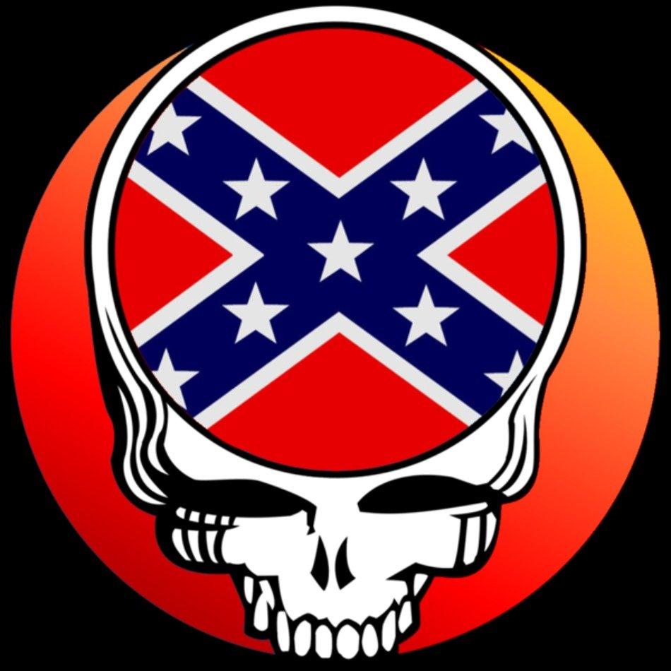 Grateful Dead Logo Dixie Skull Image Vector free image.