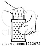 Clipart of a Hand Grating a Lemon.