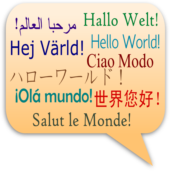 Greetings Languages Clip Art at Clker.com.