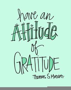 Attitude Of Gratitude Clipart.