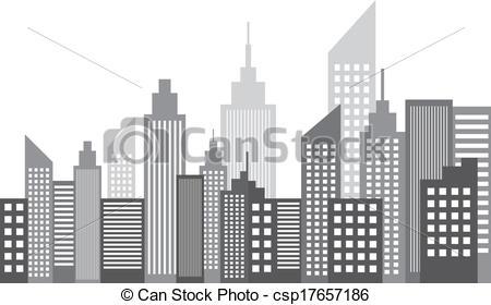 Vecteur de ville, métropole, moderne, Gratte.