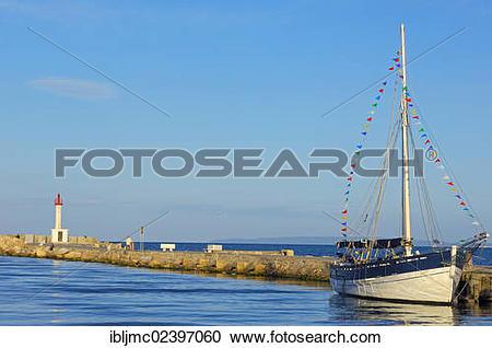 "Stock Photography of ""Boat, Le Grau du Roi, Petit Camargue, Gard."