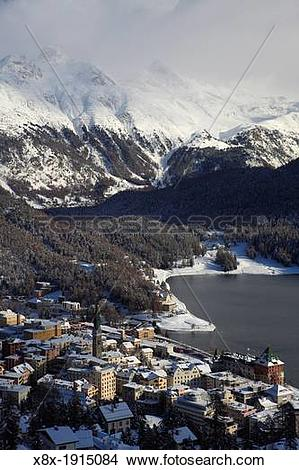Stock Photo of Saint Moritz, Graubunden Canton, Switzerland x8x.
