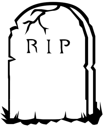 Headstone clipart black and white, Headstone black and white.