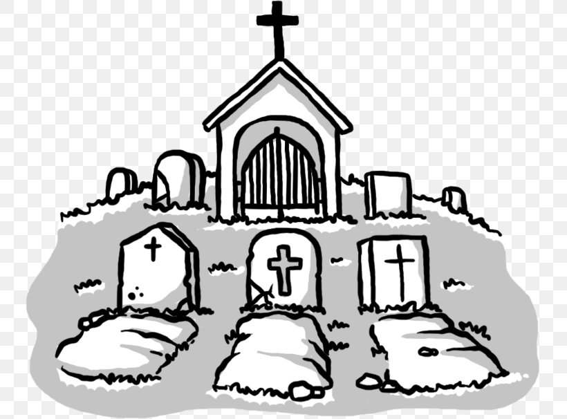 Cemetery Grave Drawing Tomb Clip Art, PNG, 745x606px.