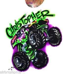 Grave Digger Monster Truck Airbrush T.