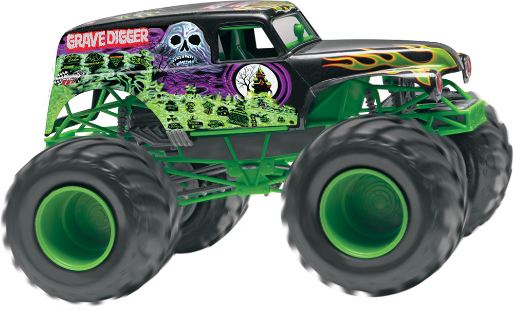 Grave Digger Monster Truck Silhouette.