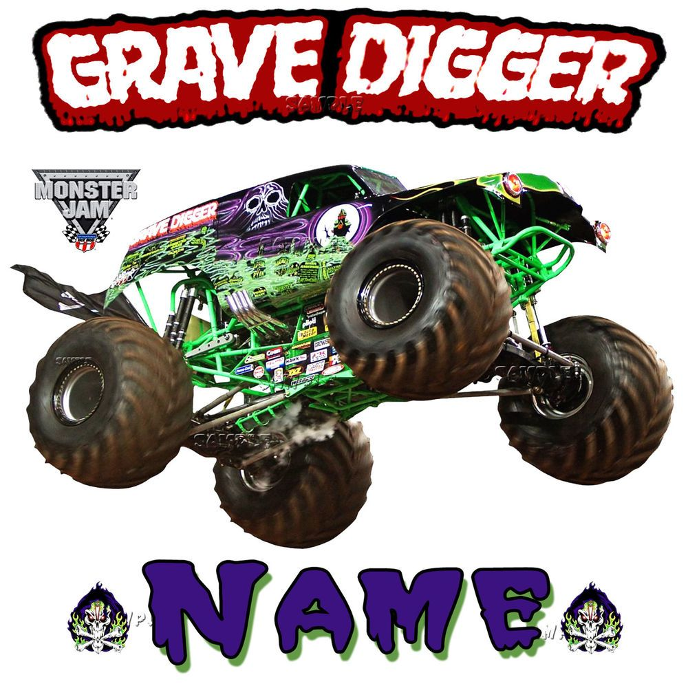 New Grave Digger Monster Truck JAM SHOW Personalized T Shirt.